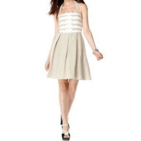 860e783e61 Jessica Simpson Dresses   Skirts - Jessica Simpson Linen Halter A-Line Dress  Size 2